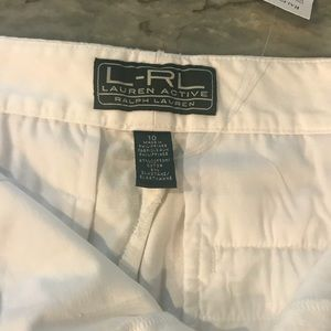 Ralph Lauren active White drew shorts w tags new
